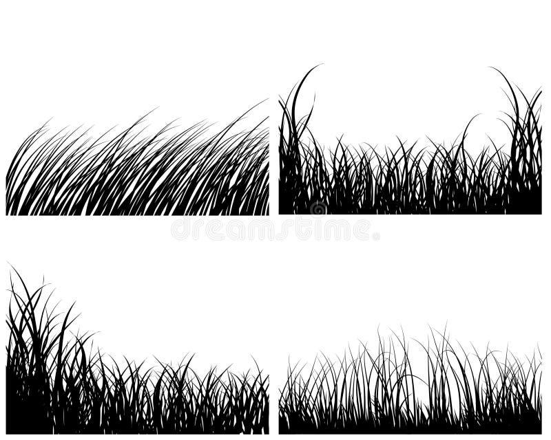 Reeks grasachtergronden vector illustratie