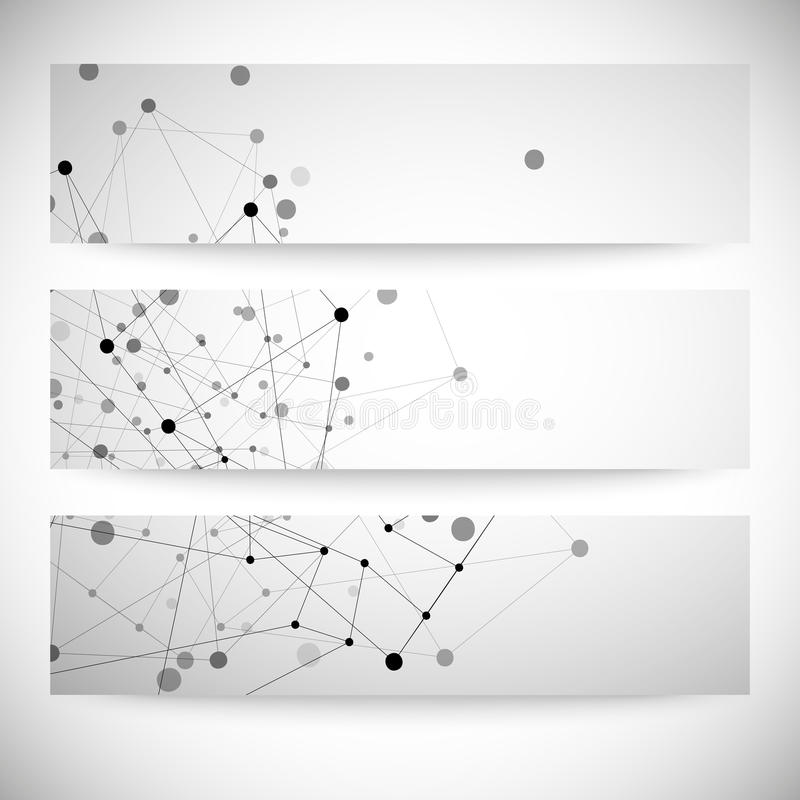 Reeks grijze achtergronden voor mededeling, royalty-vrije illustratie