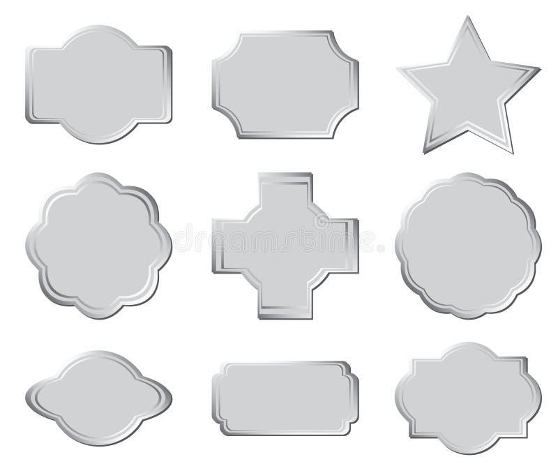 Reeks grijze frames - eps vector illustratie