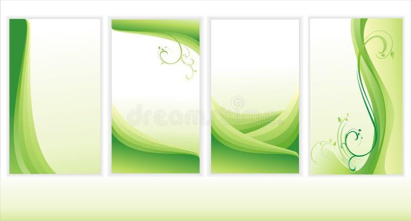 Reeks groene achtergronden. royalty-vrije illustratie