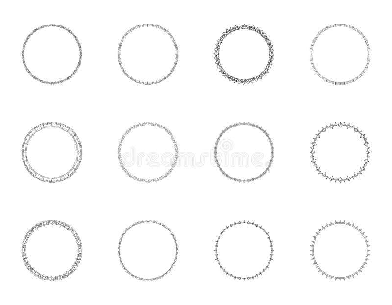 Reeks grond decoratieve kaders Vector illustratie stock illustratie