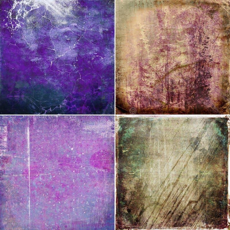 Reeks grunge gekleurde texturen royalty-vrije stock afbeelding