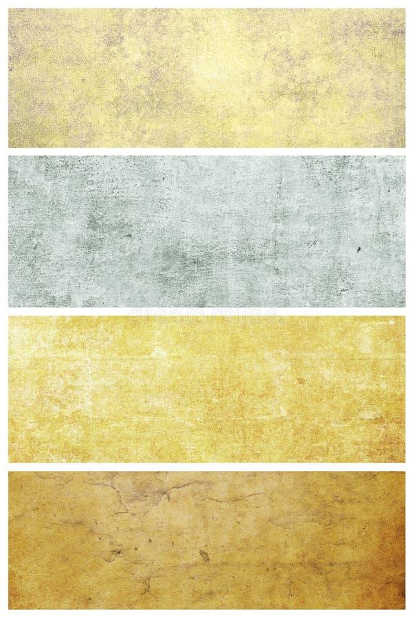 Reeks grungeachtergronden met ruimte voor tekst stock illustratie