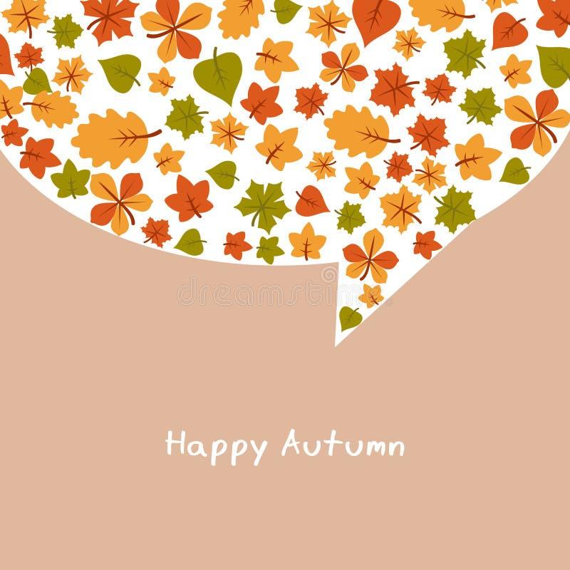 Reeks heldere de herfstbladeren vector illustratie