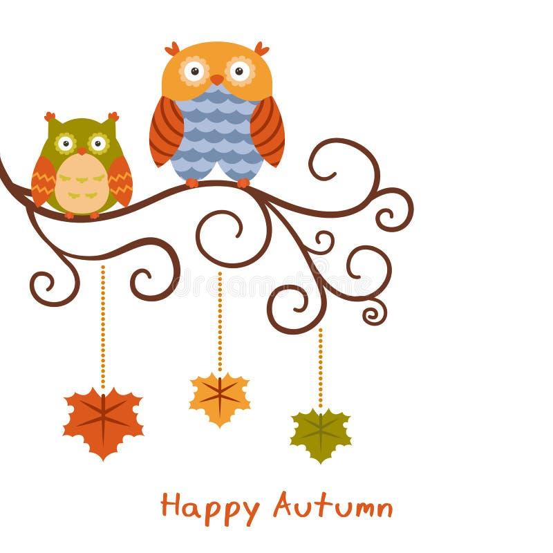 Reeks heldere de herfstbladeren royalty-vrije illustratie