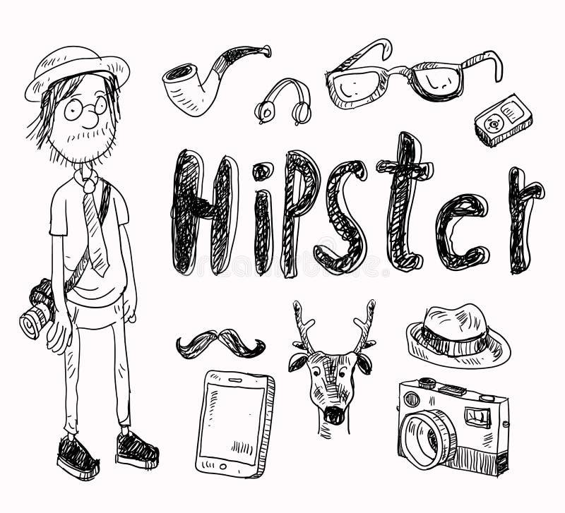 Reeks Hipster-stijlelementen vector illustratie