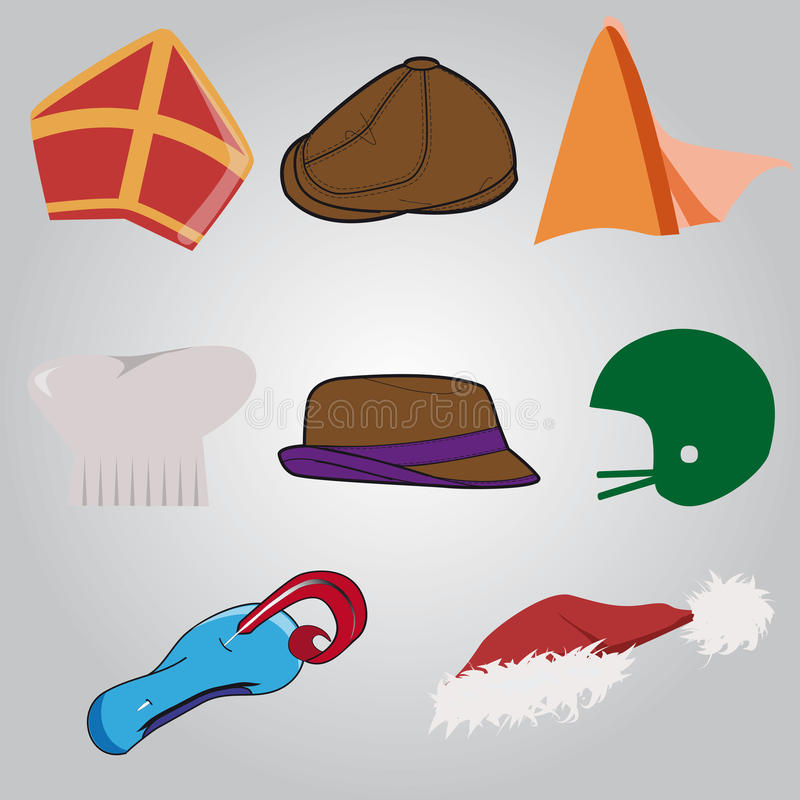 Reeks hoeden stock illustratie