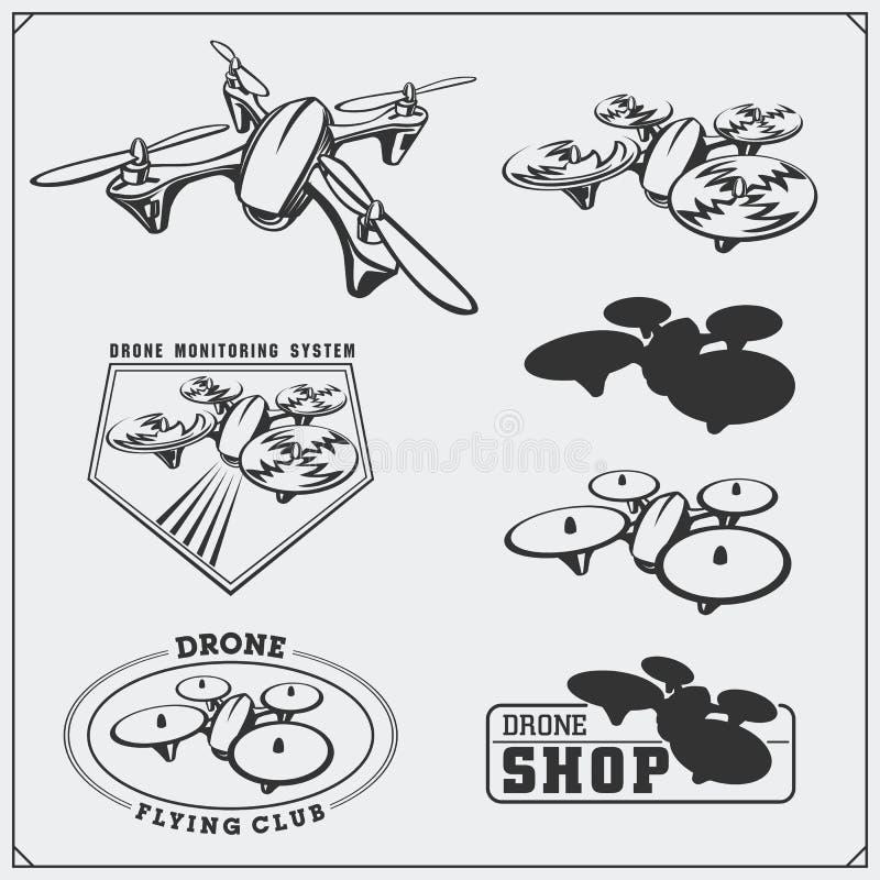 Reeks hommeletiketten, kentekens, emblemen en ontwerpelementen vector illustratie