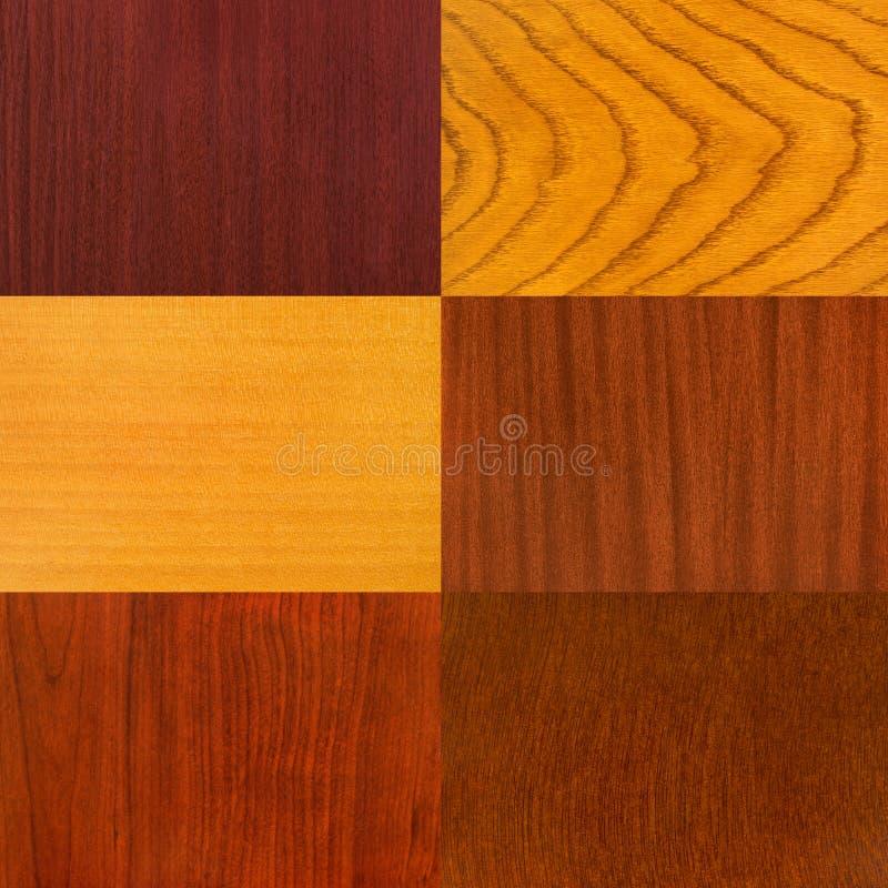 Reeks houten achtergronden stock afbeeldingen