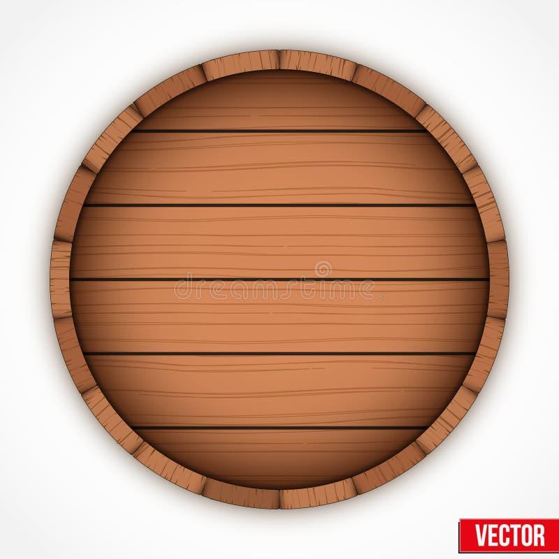 Reeks houten vaten voor het embleem van alcoholdranken vector illustratie