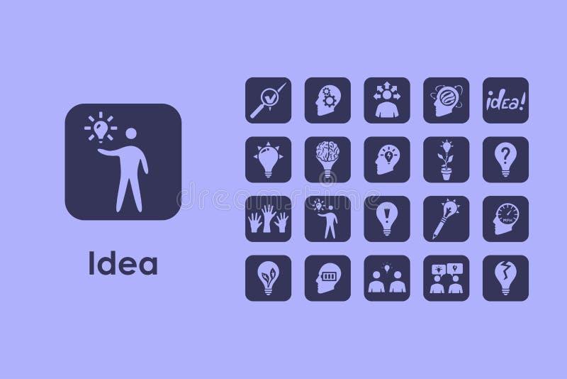Reeks idee eenvoudige pictogrammen vector illustratie