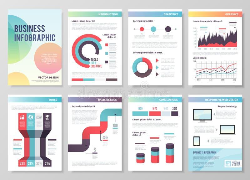Reeks infographic vector bedrijfsbrochures vector illustratie