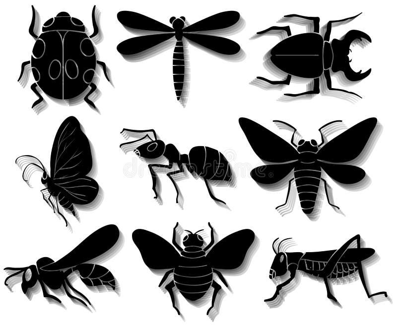 Reeks insecten royalty-vrije illustratie