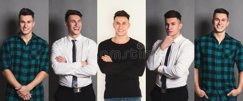 Download Reeks Jonge Mensen Verschillende Emoties Bij Studioachtergrond Stock Foto - Afbeelding bestaande uit grimas, inzameling: 114225238