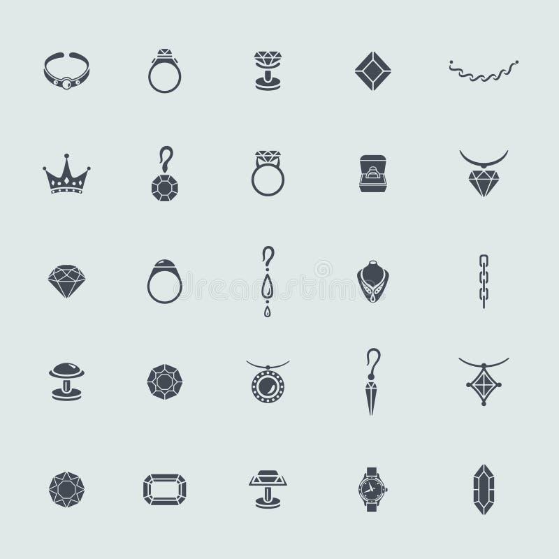 Reeks juwelenpictogrammen vector illustratie