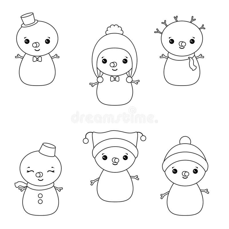 Reeks karakters van Kerstmis royalty-vrije illustratie
