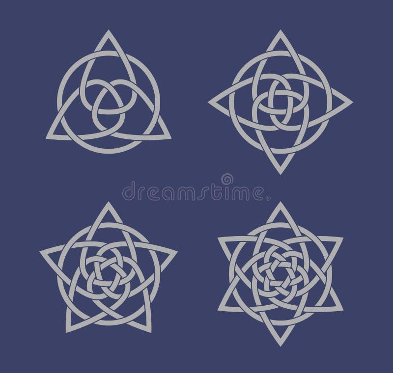 Reeks Keltische knoopsymbolen stock fotografie