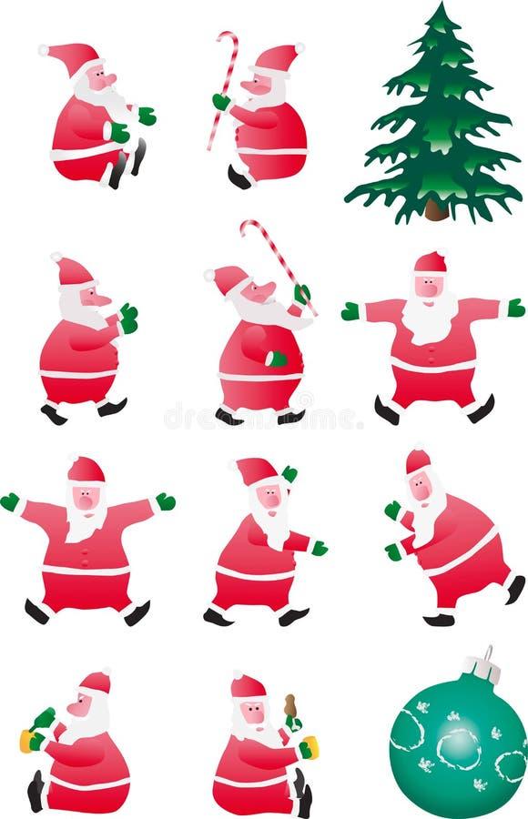 Reeks Kerstman stock illustratie