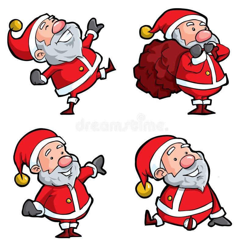 Reeks Kerstman van het Beeldverhaal vector illustratie