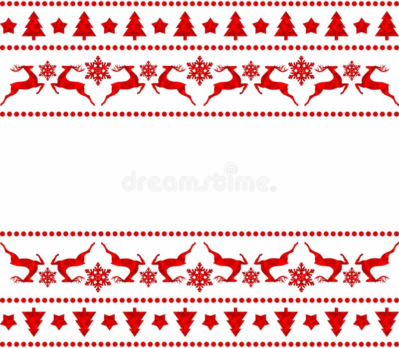 Reeks Kerstmisgrenzen royalty-vrije illustratie