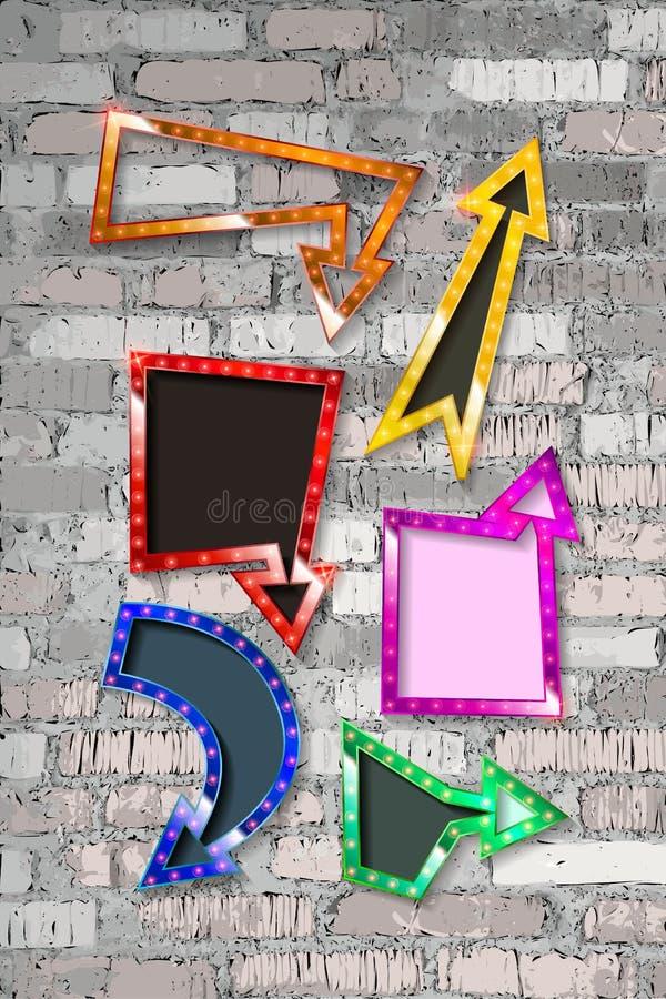 Reeks kleurenpijlen vector illustratie