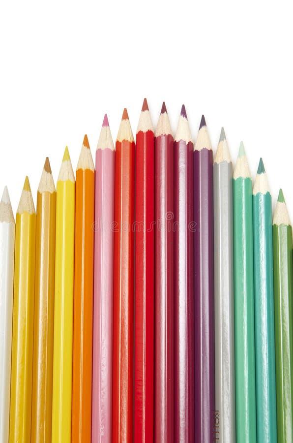 Download Reeks kleurenpotloden stock foto. Afbeelding bestaande uit samenvatting - 10777530