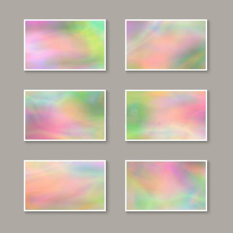 Reeks kleurrijke adreskaartjes