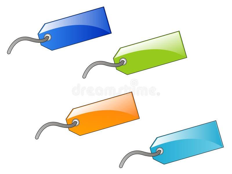 Reeks kleurrijke etiketten royalty-vrije illustratie