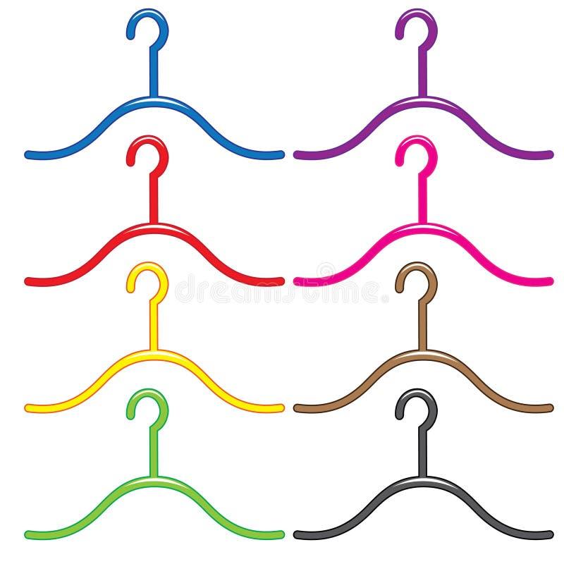 Reeks kleurrijke hangers royalty-vrije illustratie