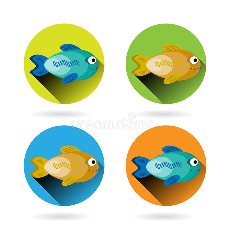Reeks, kleurrijke inzameling, groep van vier, modern, vector illustratie