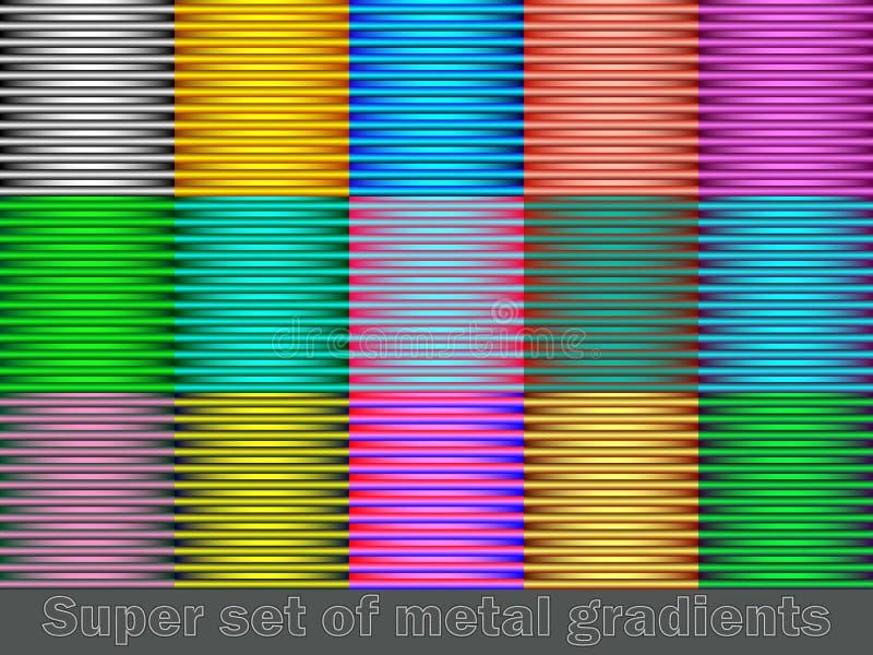 Reeks kleurrijke lijnenachtergronden Gemakkelijk om kleuren te veranderen vector illustratie