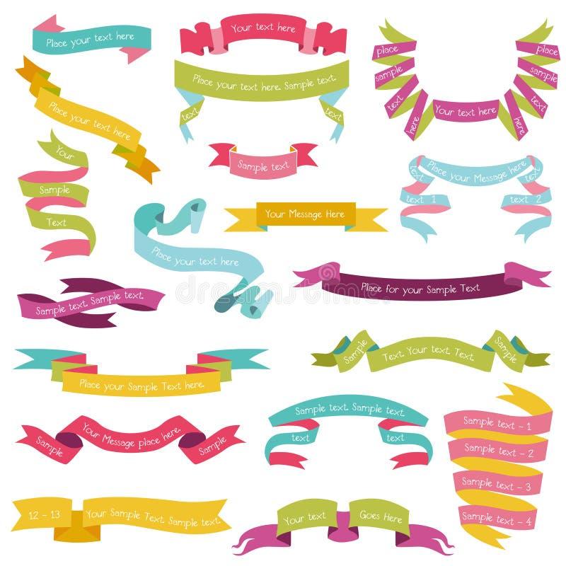 Reeks Kleurrijke Linten vector illustratie