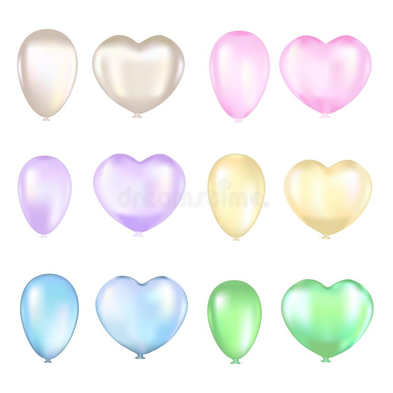 Reeks kleurrijke luchtballons op een witte achtergrond vector illustratie