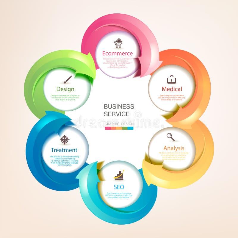 Reeks kleurrijke pijlen royalty-vrije illustratie