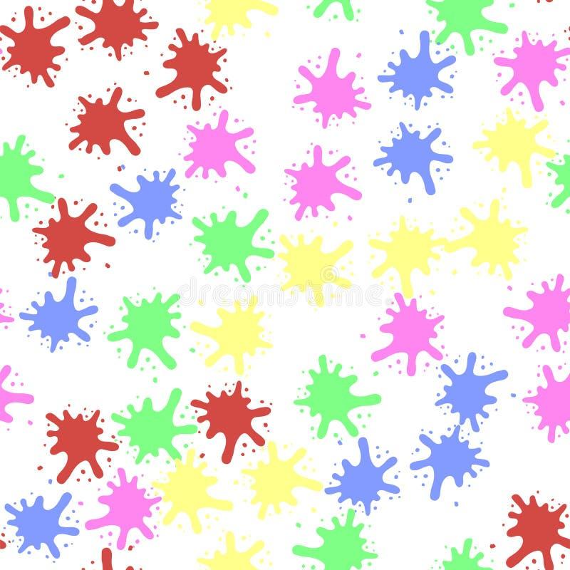 Reeks Kleurrijke Vlekken stock illustratie
