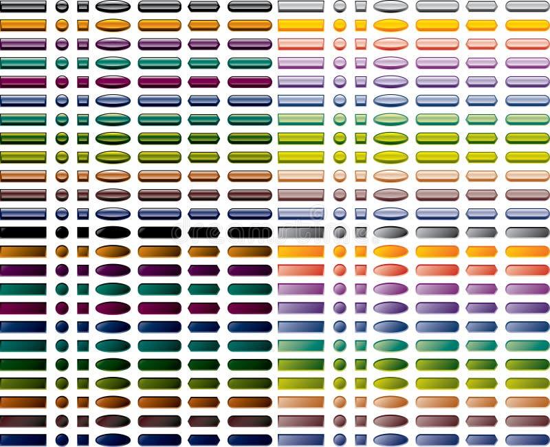 Reeks kleurrijke Webknopen royalty-vrije illustratie