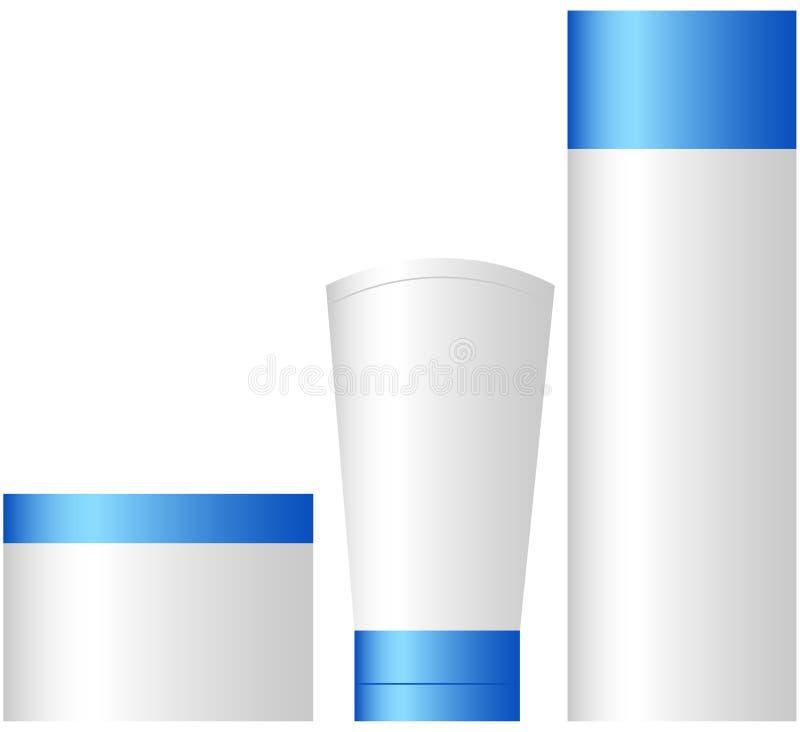 Reeks Kosmetische Containers vector illustratie