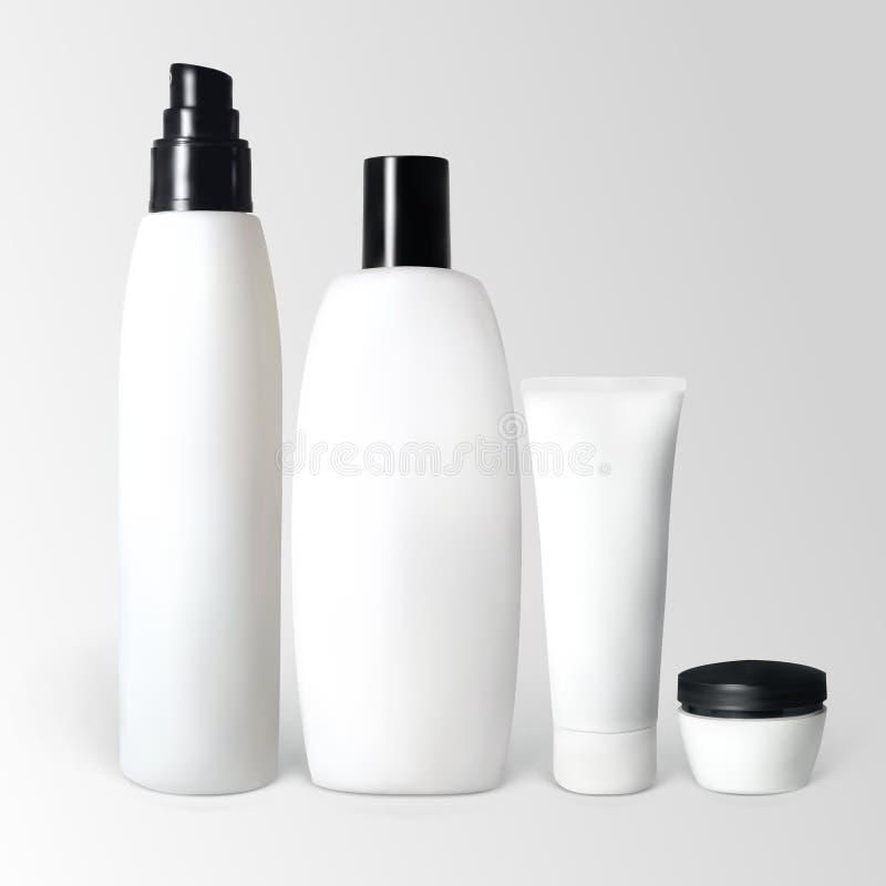 Reeks kosmetische producten royalty-vrije illustratie