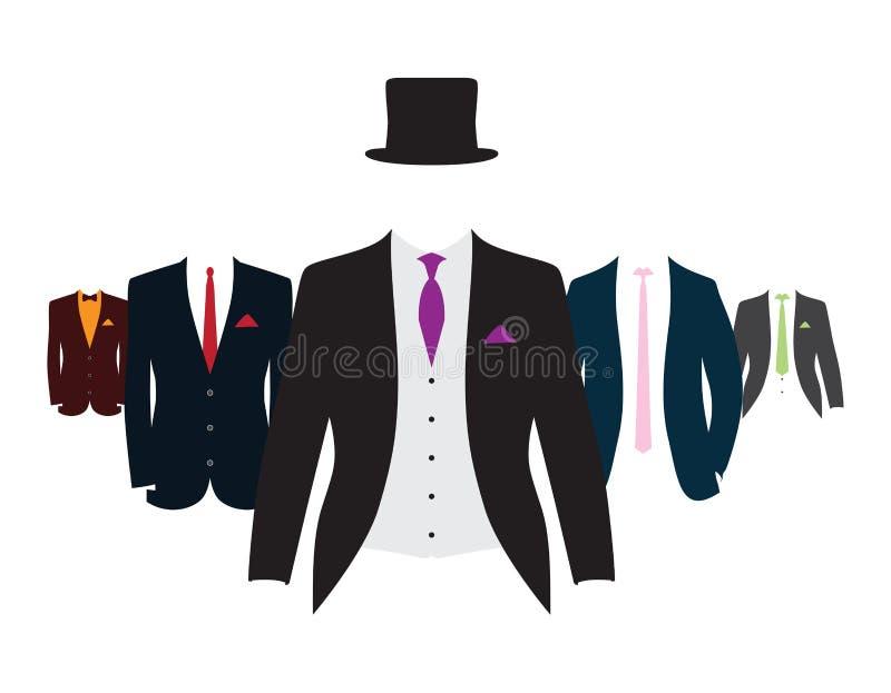 Reeks kostuums royalty-vrije illustratie