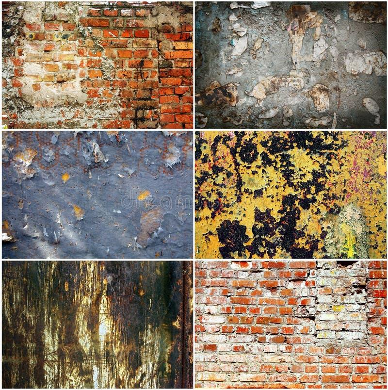 Reeks landhuis roestige texturen royalty-vrije stock fotografie
