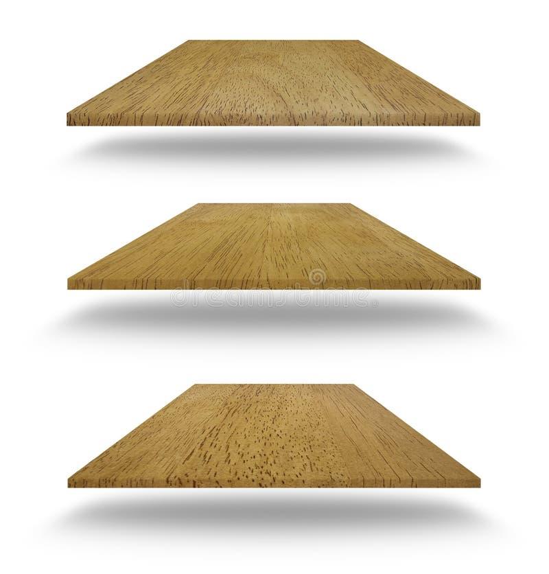 Reeks lege houten planken stock foto