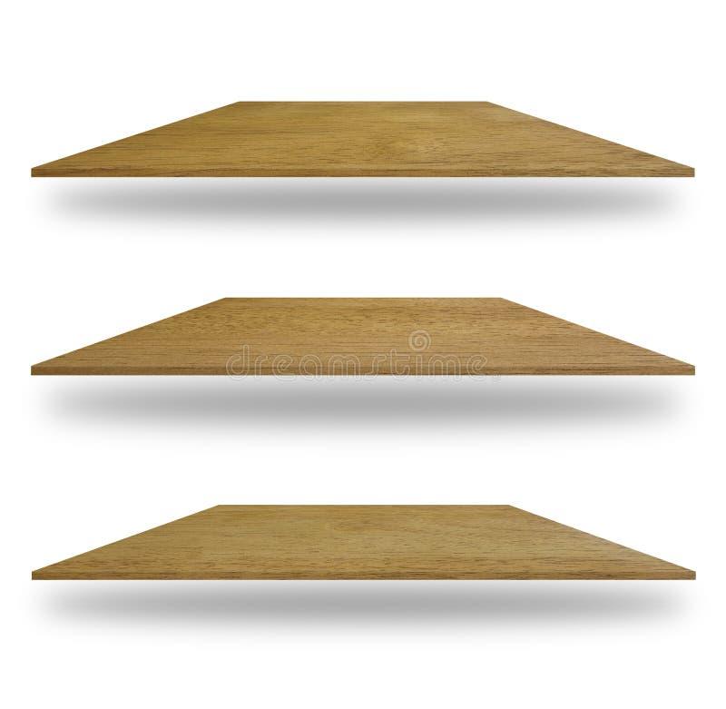 Reeks lege houten planken royalty-vrije stock fotografie