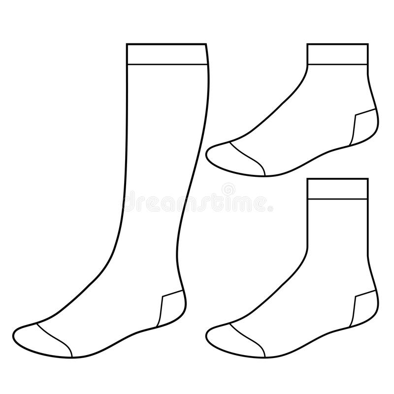 Reeks lege sokken royalty-vrije illustratie