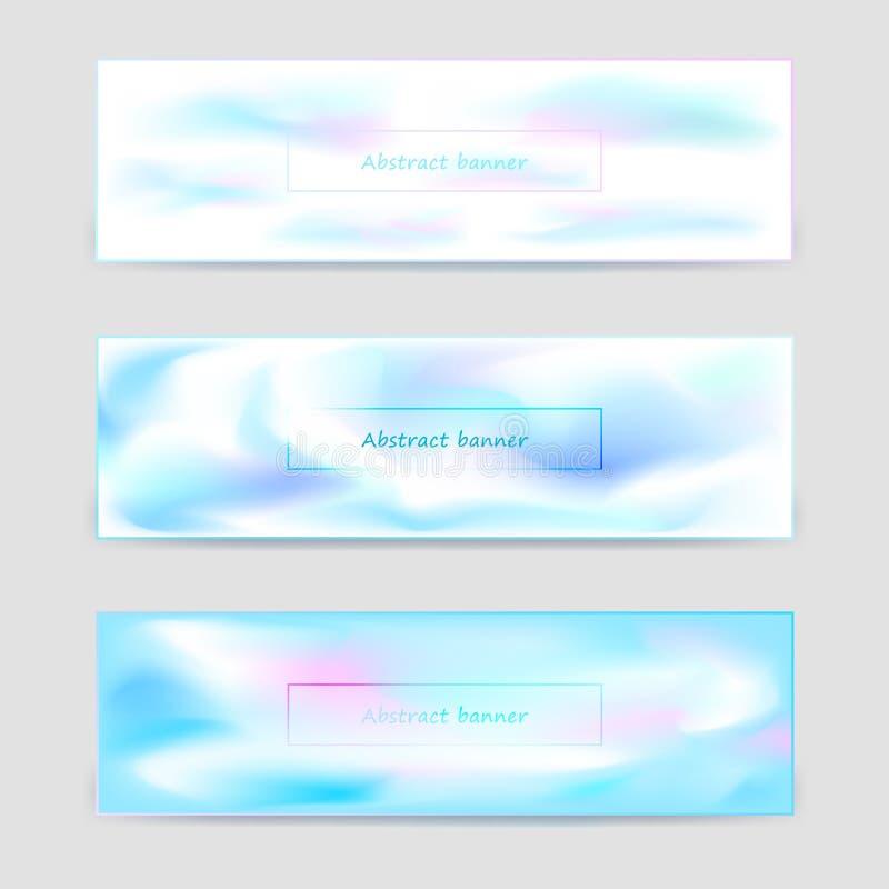 Reeks lichte horizontale bannersmalplaatjes royalty-vrije illustratie