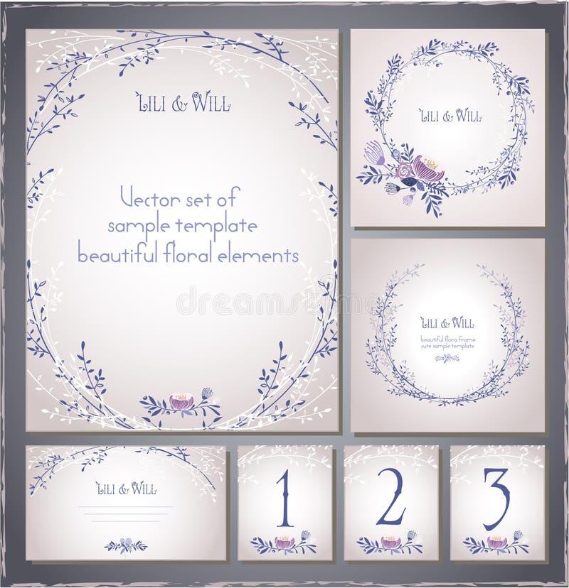 Reeks malplaatjeskaarten voor viering stock illustratie