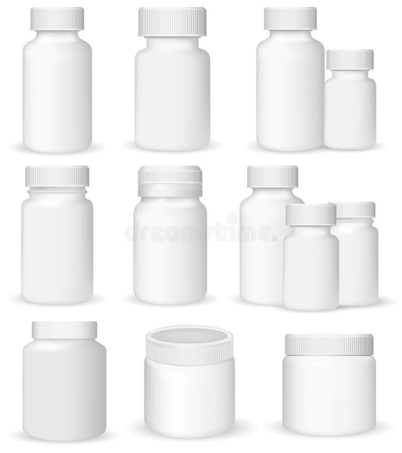 Reeks medische containers vector illustratie