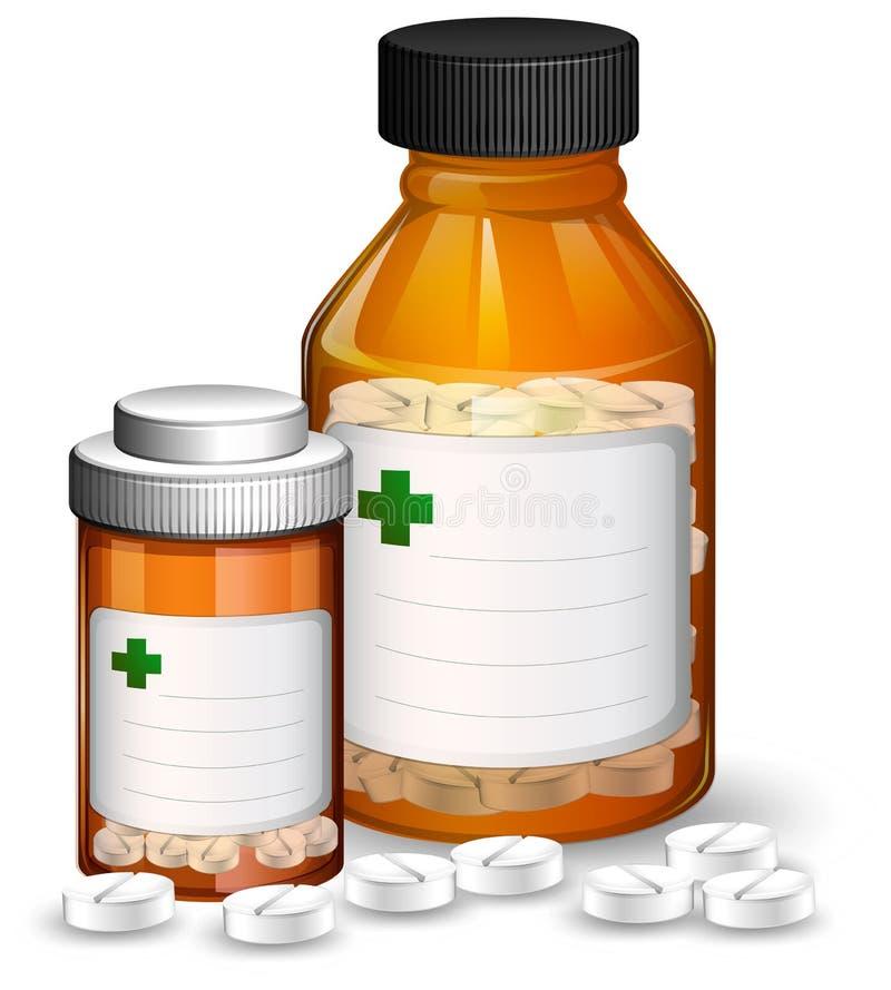 Reeks medische containers en medicene vector illustratie