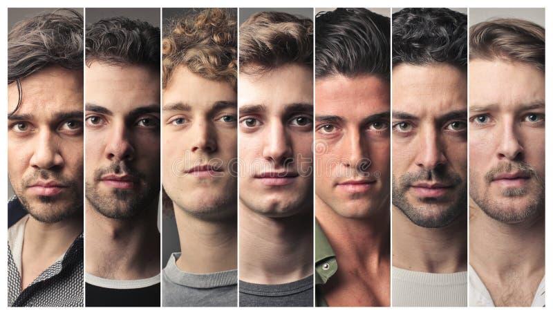 Reeks mensengezichten stock afbeelding
