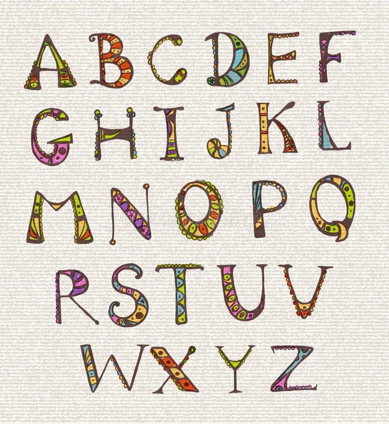 Reeks met de brieven van kleurenabc stock illustratie