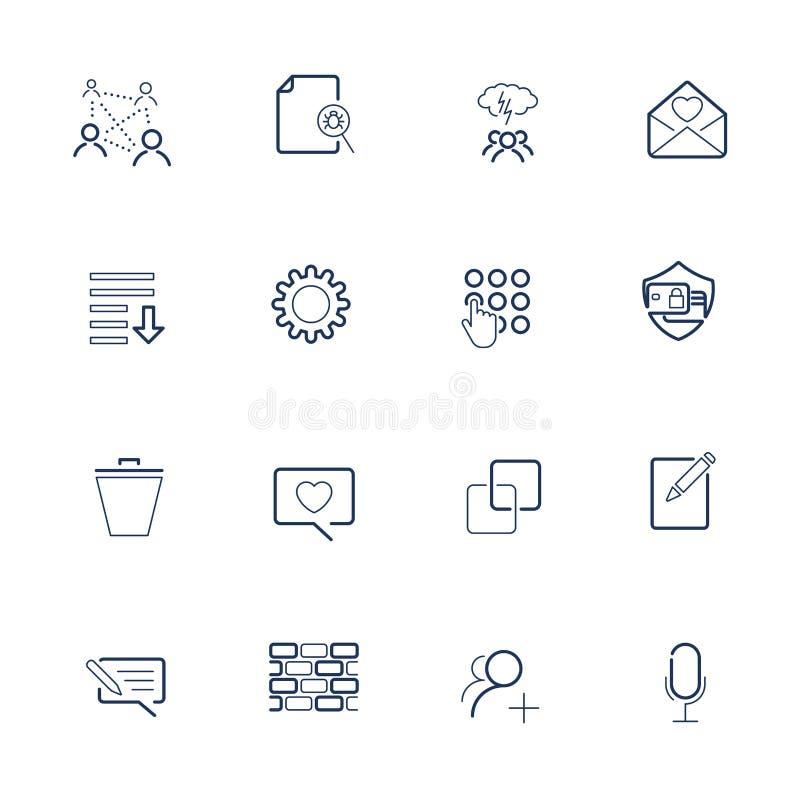 Reeks met UI-pictogrammen in moderne stijl Hoog - kwaliteitssymbolen voor websiteontwerp en mobiele apps Eenvoudige UI-pictogramm vector illustratie
